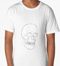 simplistic skull Long T-Shirt