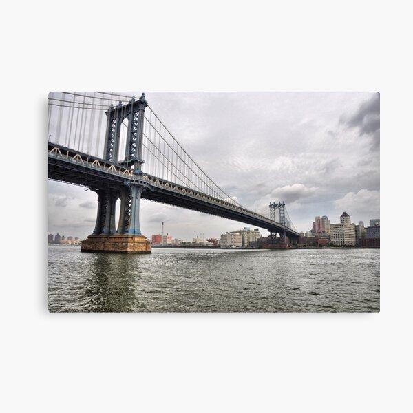 Manhattan Bridge From East River Park Canvas Print