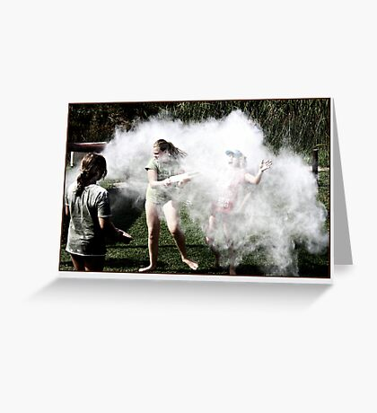 And the fun hit them like a puff of smoke Greeting Card