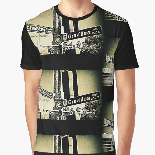 Manchester Boulevard & Grevillea Avenue1, Inglewood, California by Mistah Wilson Graphic T-Shirt