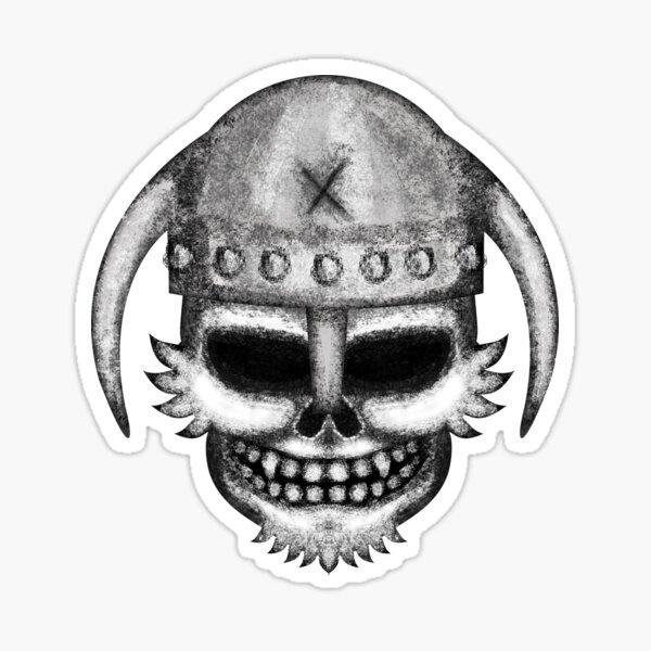 Errorface Viking Skull Sticker