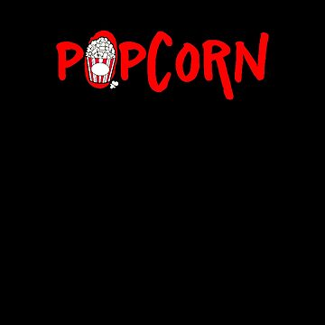 Red Popcorn Bucket Text Design - Movie Theme by stuch75