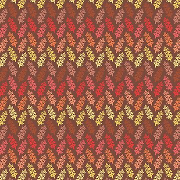 Warm Autumn Leaves Pattern by limengd