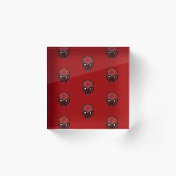 Errorface Red Skull Acrylic Block