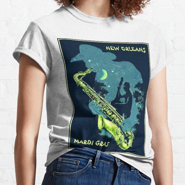 MARDI GRAS : Vintage New Orleans Celebration Advertising Print Classic T-Shirt