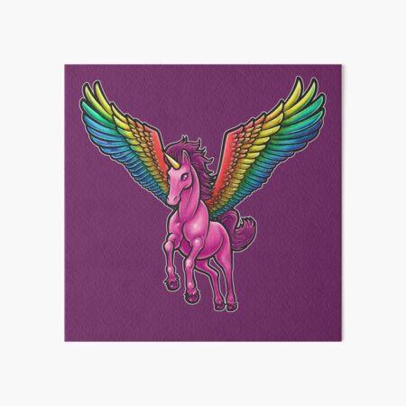 Pink Pegasus Unicorn Art Board Print