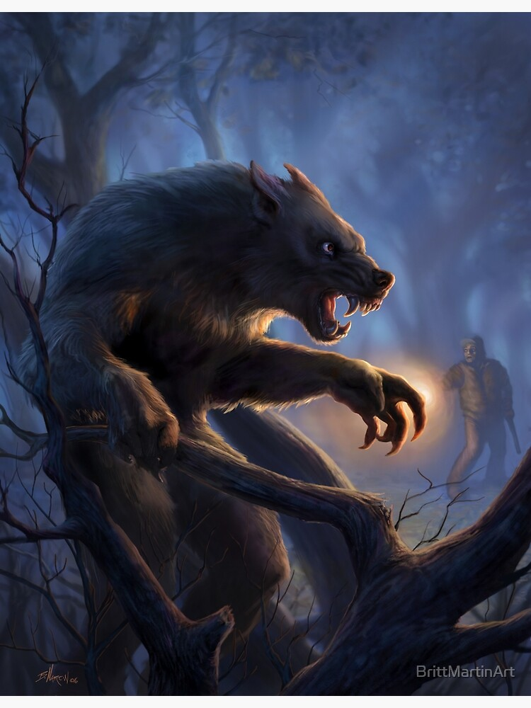 Dogman of Michigan - werewolf art | Metal Print