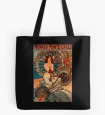 'Monaco' by Alphonse Mucha (Reproduction) Tote Bag
