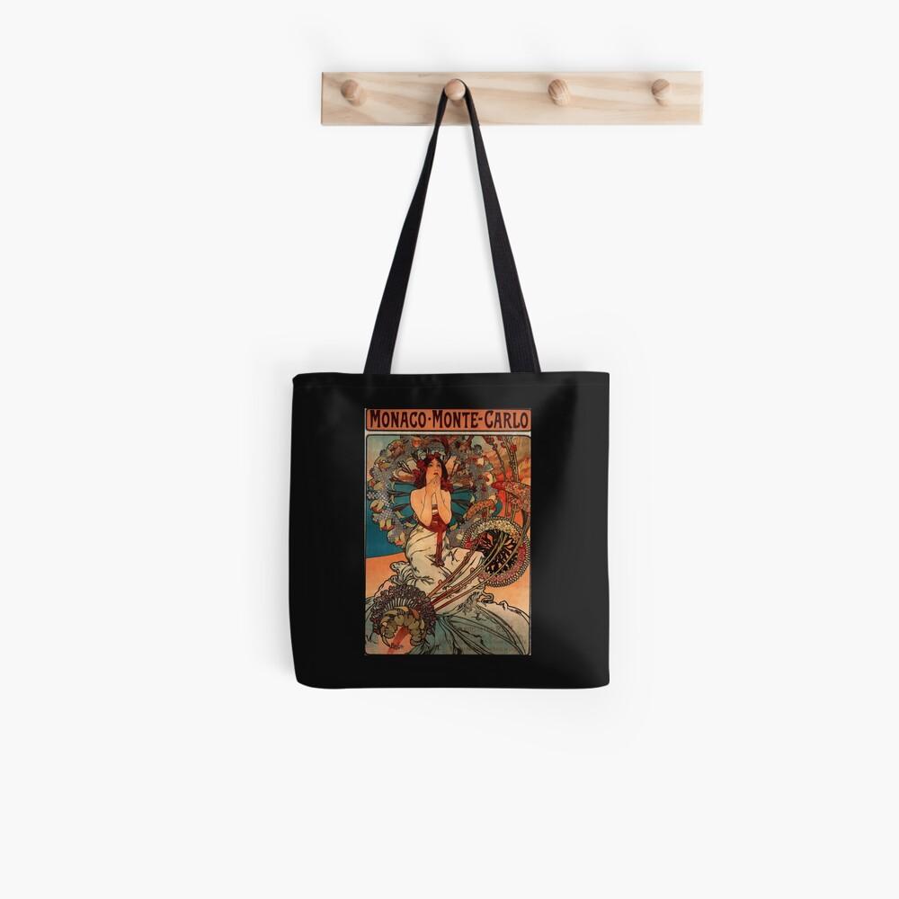 'Monaco' von Alphonse Mucha (Reproduktion) Tote Bag