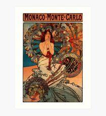 'Monaco' by Alphonse Mucha (Reproduction) Art Print