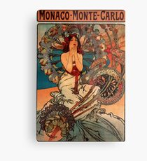 'Monaco' by Alphonse Mucha (Reproduction) Metal Print