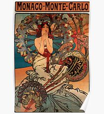 'Monaco' by Alphonse Mucha (Reproduction) Poster