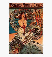 'Monaco' by Alphonse Mucha (Reproduction) Photographic Print