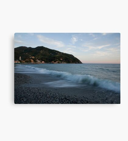 levanto beach, italy Canvas Print
