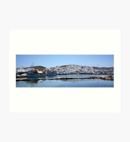 Naoussa ~ Fishing Harbour & Village ~ What a Gem Art Print