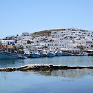 Naoussa ~ Fishing Harbour & Village ~ What a Gem by BettinaSchwarz