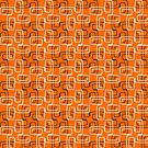 Mod Paperclips on Orange by Juliet Chase