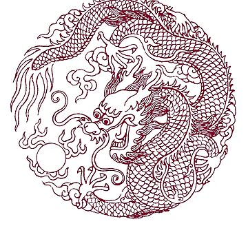 Chinese Art Dragon by Zehda