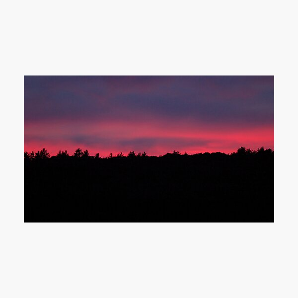 deep color sunset in september Photographic Print