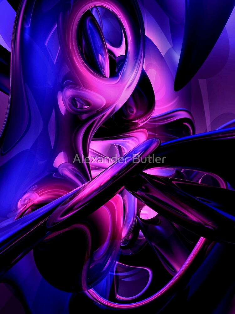 Fluorescent Passions Abstract by Alexander Butler