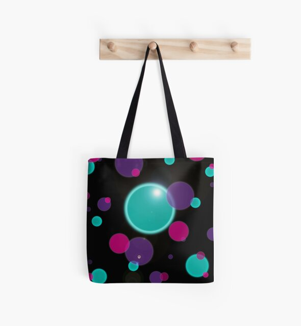 Colorful bubble dots pattern on black by edrawings38