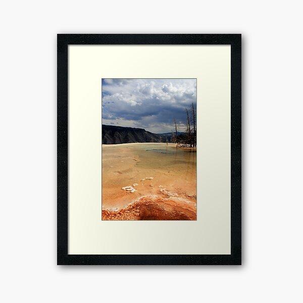 Infinity Pool, Mammoth Hot Springs Framed Art Print