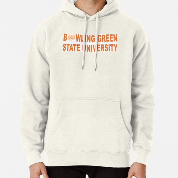 Bowling Green State Youth Grey Fleece Hood BG w//Falcon