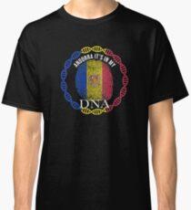 Andorra Its In My DNA - Andorra Andorran Flag In Thumbprint Classic T-Shirt