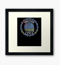 Aruba Its In My DNA - Aruba Aruban Flag In Thumbprint Framed Print