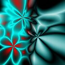 Floral Neon Abstract by CarolM