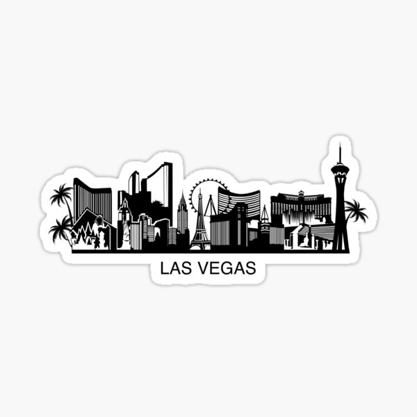 Las Vegas cityline Art Sticker