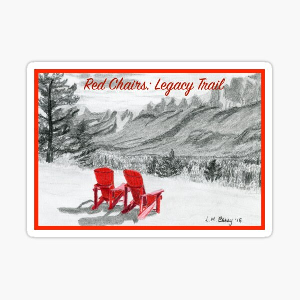 Red Chairs: Legacy Trail Sticker