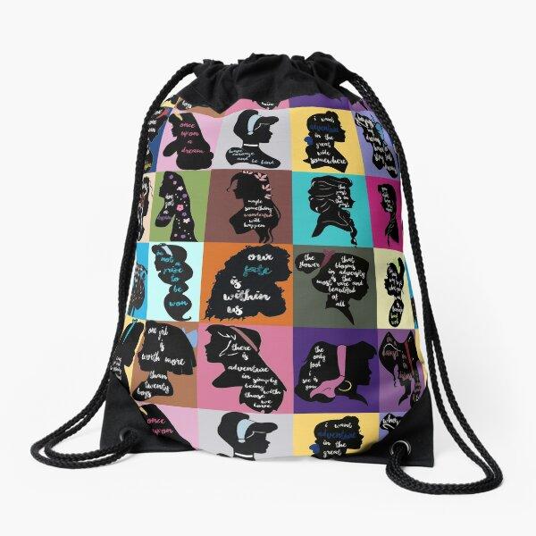 Princess Inspirational Quote Collage Drawstring Bag