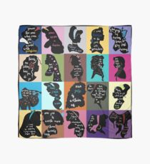 Princess Inspirational Quote Collage Scarf