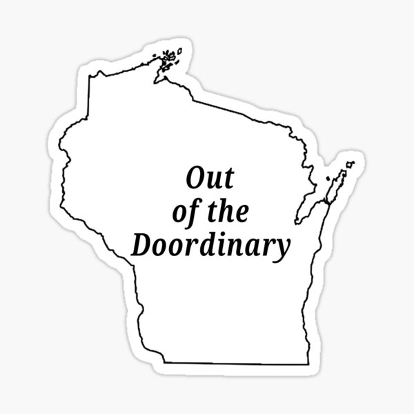 Out of the Doordinary. Sticker