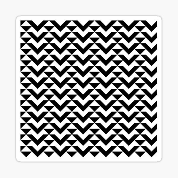 BW Tessellation 6 1 Sticker