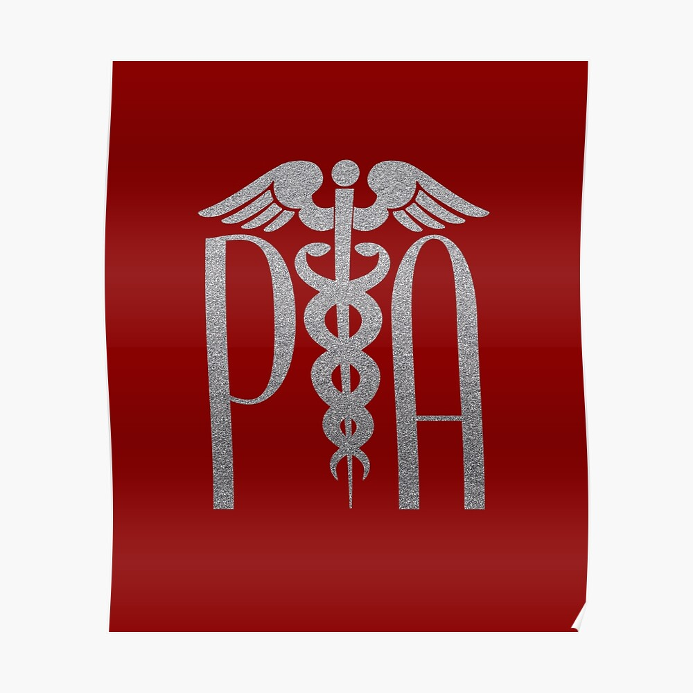 Arzt-Assistent mit Caduceus Design Poster