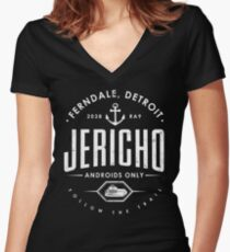Detroit Become Human - Jericho - Kara, Markus and Conner - Dark shirt version Women's Fitted V-Neck T-Shirt