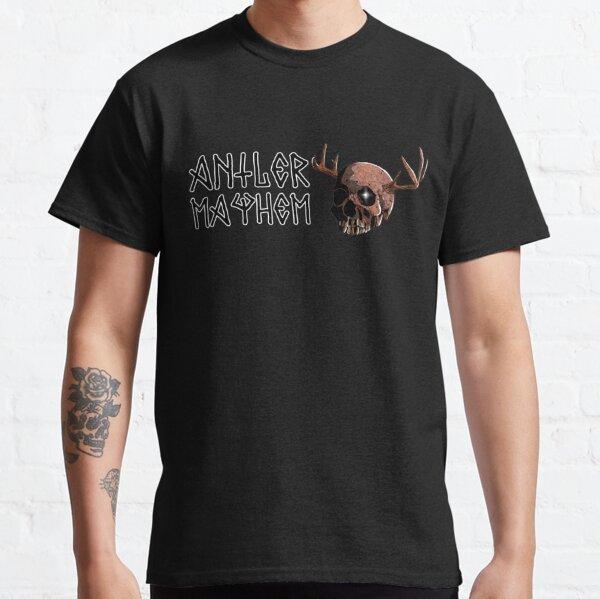 Antler Mayhem Humanoid Skull Classic T-Shirt
