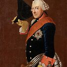 Frederick the Great tipping his tri-corner Hat by edsimoneit
