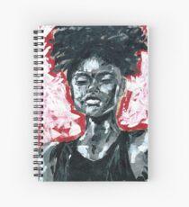 Cuaderno de espiral Negro, blanco y rojo