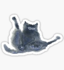 Shameless Cats:  Silhouette Black Cat Sticker