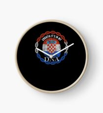 Croatia Its In My DNA - Croatia Croatian Flag In Thumbprint Uhr