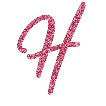 """Pink Glitter Letter """"H"""" by QthePhotog"""