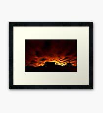 Desert Silhouettes Framed Print