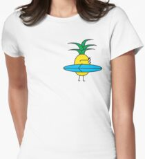 Surfing Pineapple Women's Fitted T-Shirt