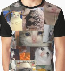 Crying Cat Graphic T-Shirt