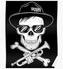 Skull Of Trumpet Poster