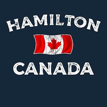 Hamilton Canada Waving Canadian flag by dk80