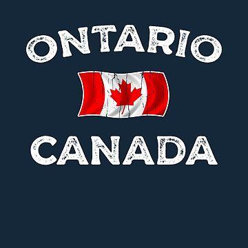 Ontario Canada Waving Canadian flag by dk80